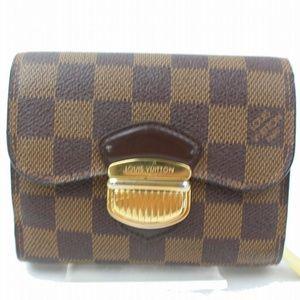 💯Authentic Louis Vuitton Joey Brown Damier Wallet